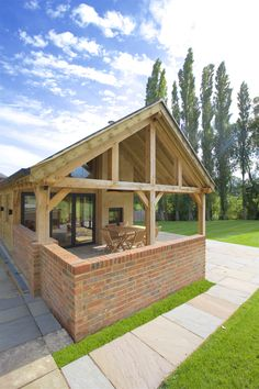 We are passionate about hand making bespoke Oak frame timber buildings, and have established an enviable reputation as one of the leading providers of beautiful Oak framed buildings in Leicester, Oakham and across the UK. Oak Framed Buildings, Timber Buildings, Natural Structures, Outdoor Structures, Border Oak, Bungalow Extensions, D House, Building A Shed, Shed Plans