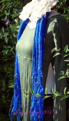 Long and Blue Dread Lock Falls by DivaDreads on Etsy, $85.00