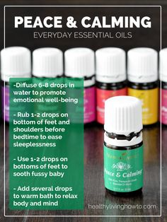 Peace and Calming  For more information about this oil and all the everyday oils visit:   http://mrschristinaholcom.wix.com/livingoils