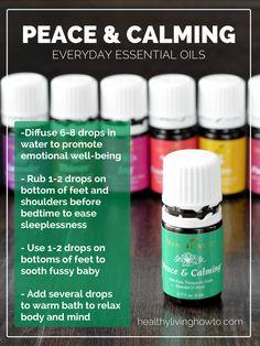 Everyday Essential Oils: Peace & Calming | healthylivinghowto.com #essentialoils #youngliving