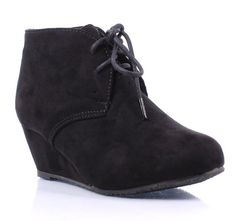 Cute Fashion New Faux Suede Pumps Lace up Girls High Heels Kids Ankle Boots Youth Size Shoes New Without Box (3, Black)