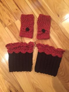 Fingerless gloves and boot cuffs