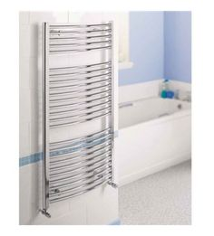 Quinn Crystal 730 x 450mm Towel Rail Radiator Curved Chrome QRKCZ1