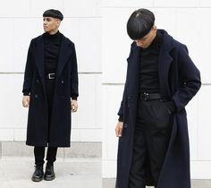 Paul Levy Desings Paul Levy Coat, Colomar Black Trousers, Dr. Martens 1461, Independent Designs Turtleneck