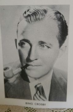 Photo of Bing Crosby with a Pipe by NoPlaceLikeVintage on Etsy
