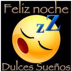 """""""Feliz noche, Dulces suenos""""  Good night (literally """"happy night""""), sweet dreams!"""
