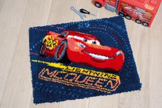 #vervaco #kitsforkids #embroidery #needlework #stitch #stitching #diy #kit #ideas #inspiration #needleandthread #artsandcrafts #arts #red #kidsroom #disney #blue #tapestry #cars