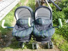 Bebecar Unibug Twin Pram 3 1 carrycots carseats and double pushchair Twin Pram, Best Prams, Vintage Pram, Prams And Pushchairs, Baby Carriage, Strollers, Plum, Cute Babies, Car Seats
