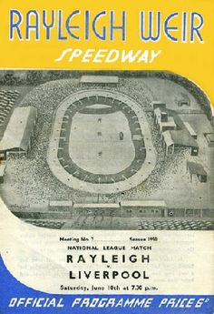 I can't believe there used t be a speedway at rayleigh weir! It just doesn't seem to fit in with the Rayleigh I know now. My Uncle said he used to go and see the Rayleigh Rockets as a teneager Bike Poster, Motorcycle Posters, Guy Martin, Classic Bikes, Sidecar, Rockets, Over The Years, Programming, Liverpool