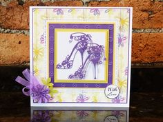 cards made with tattered lace shoe die 21 Cards, Cards Diy, Lace High Heels, Lace Shoes, Tattered Lace Cards, Birthday Cards For Women, Create And Craft, Card Patterns, Diy Projects To Try