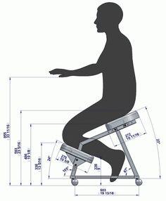 Metal kneeling chair - Ergonomy