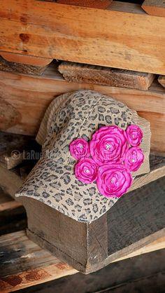 LEOPARD ROSE CAP