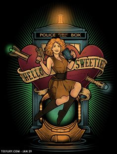 """""""Hello Sweetie"""" by Megan Lara and Harry Gordon aka Omega Man 5000 River Song / Doctor Who design Alex Kingston, Arte Doctor Who, Video Series, Tv Series, Crossover, Dr Who Companions, Serie Doctor, Estilo Pin Up, Hello Sweetie"""