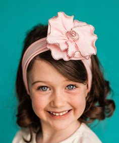 Do ???--- This Snugars Pink Ballet Rose Headband by Snugars is perfect! #zulilyfinds