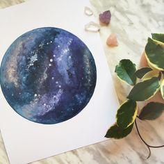 Galaxy print Galaxy Art Galaxy Painting Space Art by BirchBliss