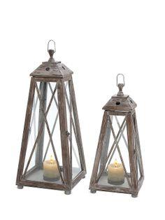 Pair of Wooden Lanterns by UMA at Gilt