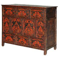 Mesa centro tibetana muebles chinos muebles orientales for Muebles orientales antiguos