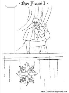 the holy father pope francis i catholic coloring page for kids to colour