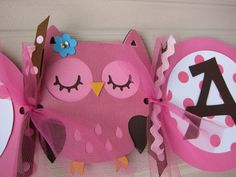 Cute banner for owl themed party