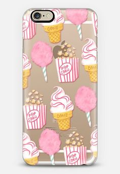 Cute Summer Ice Cream Popcorn Candy Floss Vintage Fairground Pattern Rachillustrates by Rachel Corcoran | @casetify