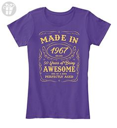 Teespring Women's 50th Birthday Gift Made In 1967 Awesome Premium T-Shirt XXX-Large Purple - Birthday shirts (*Amazon Partner-Link)