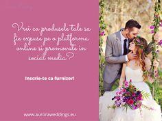 Povestile frumoase se construiesc cu Aurora Weddings! Inscrie-te ca furnizor pe portalul nostru si impreuna vom contribui la realizarea celor mai deosebite nunti! In plus, iti oferim promovare In social media si 2 luni GRATUITE! Contacteaza-ne la numarul 0720 367 621 si vino sa ne cunoastem! #auroraweddings