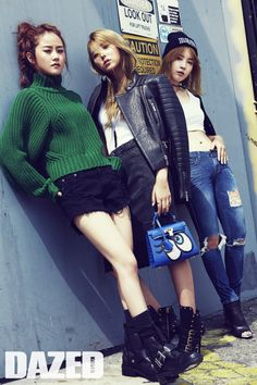 4Minute Dazed & Confused Magazine September 2015 Photoshoot
