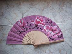 magnolia  #art #pintadoamano #abanicos #valian #valianart