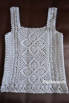 Camiseta crochê
