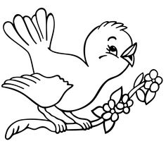 Cute bird coloring pages for kids