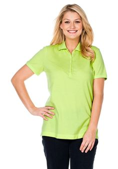 Typ , Poloshirt, |Material , 100% Baumwolle, |Kragen , Polokragen, |Ärmelstil , Kurzarm, |Stil , Freizeitmode, |Passform , Figurbetont, |Anlass , Everyday, |Gesamtlänge , ca. 70 bis 78 cm, | ...