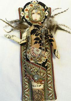 Priestess Priscilla Ooak cloth art doll 12in. tall Goddess Fantasy Creation