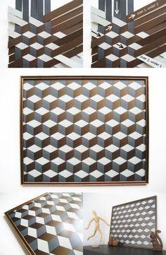 DiY Geometric Woven Paper Picture Tutorial | Adorablest: