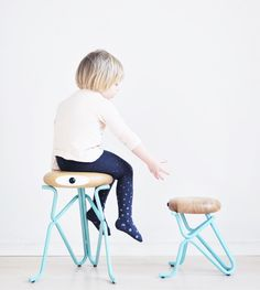 the humorous and sculptural stool for… Steel Furniture, Kids Furniture, Classroom Stools, Affordable Furniture Stores, Enchanted Doll, Small Stool, Take A Seat, Diy Table, Architecture