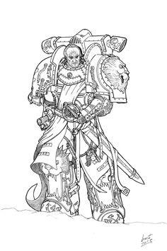 "haaaaaaaaave-you-met-ted: ""Chapter Master Lannwyn of the Crimson Lions by Greyall """