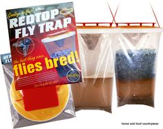 Tusk Redtop Fly Trap Exceedingly effective fly trap prevents flies ever entering your buildings Ideal for smallholdings poultry farms dairies or anywhere plagued by flies every summer.