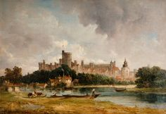 Windsor Castle by Alfred Vickers, early century. From the collections of Wednesbury Museum and Art Gallery. Unframed prints from Buy Prints Online, Framed Postcards, Glasgow Museum, History Posters, Museum Art Gallery, Personalised Prints, Windsor Castle, Art Uk, Surrey