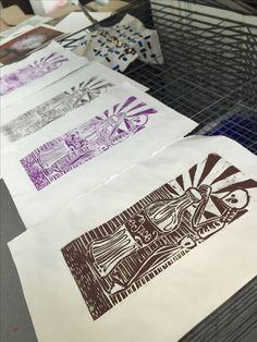 Wood cut prints