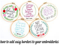 how to add borders to your embroideries - making jiggy