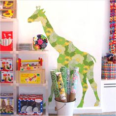 Yes, vintage wallpaper giraffe and other cool animals with different vintage wallpapers, here at the Crib!