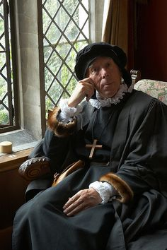 """A Doctor of Divinity visiting Kentwell Hall from his post at Cambridge University.    The Great Annual Tudor Re-Creation"""" features 300+ dedicated re-enactors in costume and in character around the Elizabethan house, farm and grounds. This year was 1578."""