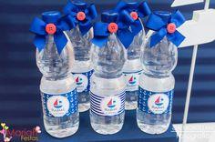 Água decorada tema marinheiro | Festa infantil | Festa marinheiro | Decoração by Mariah festas #aguadecorada #festamarinheiro