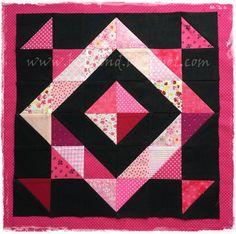 A  jó kikapcsolódás titka, a foltvarrás: Felezett négyzetekből háromszögek- Half Squere Tri... Minion, Triangle, Quilting, About Me Blog, Blanket, Sewing, Fabric, Ideas, Scrappy Quilts