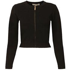 MIchael Kors Women's Cardigan Zip Nero OK L(INT)-L(US) Black