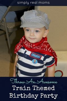 Throw An Awesome Train Themed Birthday Party | Simply Real Moms.... some good activity ideas