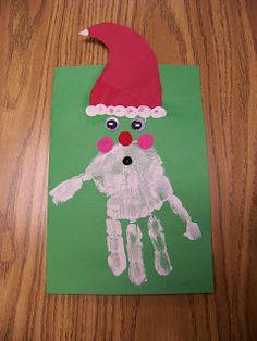 santa/christmas hand print