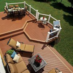 1000 images about decks on pinterest deck plans deck for Hexagon deck plans