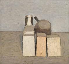 thunderstruck9:  Giorgio Morandi (Italian, 1890-1964), Natura morta, 1956. Oil on canvas, 37 x 39.5 cm.