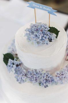 Hochzeitstorte mit Hortensien- wedding cake
