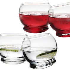 NORMANN-COPENHAGEN -  Rocking Glasses - 4 Pieces Red Candy, Copenhagen, Cool Kitchens, Bar Ideas, Gift Ideas, Gifts For Women, Alcoholic Drinks, Cafe Bar, Glasses